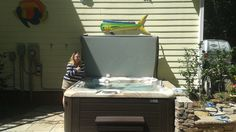 Another happy Hot Spring Spa owner!  Visit us for Hot Tubs! http://everythingbilliards.net/