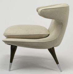 1950's Karpen of California Horn Lounge Chair.