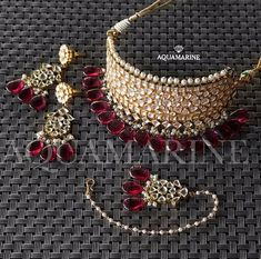 bridal jewelry for the radiant bride Indian Jewelry Sets, Indian Wedding Jewelry, Royal Jewelry, Jade Jewelry, Bridal Jewelry Sets, Silver Jewelry, Bridal Jewellery, Silver Rings, Choker Jewelry