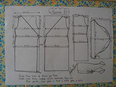 Molde de Vestido Envelope tamanho 50.