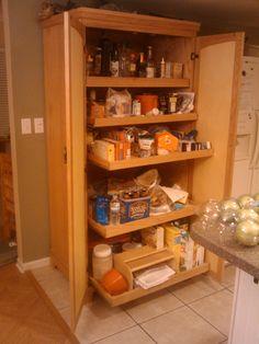 Large Kitchen Pantry Storage Cabinet