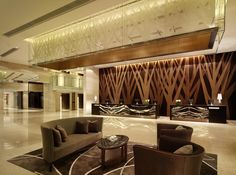 hotel lobby   Hotel Lobby at Hyatt Regency Hong Kong , Shatin.