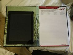 """Diy tablet case with notepad-Letter writing + more """"modern"""" together"""