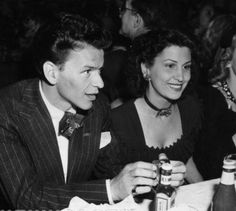 Frank Sinatra & his first wife Nancy Barbato