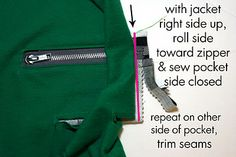 Project Run and Play: Exposed Zipper Pocket Tutorial By Jessica from Running with Scissors