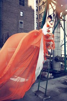 Flowing dress - High fashion Photography  -Kha My Van is praised in this photo.