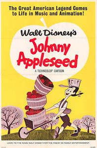 disney johnny appleseed poster | Details about JOHNNY APPLESEED original DISNEY cartoon one sheet movie ...