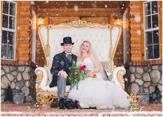 Red and Black Wedding, Chronicals of Narnia Wedding, Snow Wedding, Vintage White Chairs