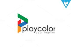 Play Color - Letter P logo by wopras on Creative Market