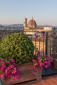 When staying in Florence, The Antica Torre di Via Tornabuoni Hotel not only offers convenient, historical accommodations but as a bonus the roof top bar offers incredible views!