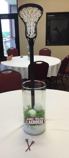 Lacrosse banquet centerpiece- simple and clean