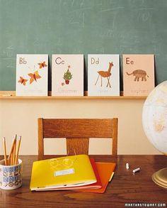 Leaf Alphabet Craft - love it!