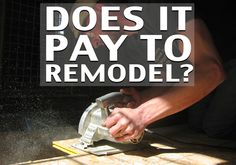 Does it pay to Remodel?  Selling a home is a big deal. You naturally want to get the most money you can considering that it's one of the biggest investments you'll ever make. You also want it to sell quickly. Quick sales and high asking prices often do not go hand in hand, which leaves sellers with a few questions. If you remodel and turn your home into the absolute perfect house, can you get more for it while helping the house sell faster?
