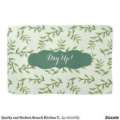 Quirky and Modern Branch Kitchen Towel