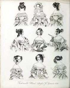 All sizes | The World of Fashion and Continental Feuilletons 1838 Plate 39 | Flickr - Photo Sharing!