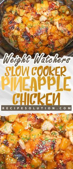 Slow Cooker Pineapple Chicken - Recipe Solution