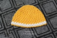 crochet baby hat with pattern