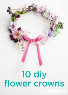 These 10 DIY flower crowns are great for playtime or birthday celebrations. Your baby or toddler will look adorable in this headdress while celebrating her first, second, or third birthday.