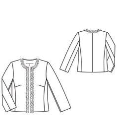 Veste Chanel burda 03/2012 #109 à modifier pour la rendre réversible