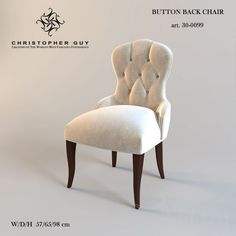 Стулья - Christopher Guy / Button Back Chair Dressing Table With Chair, Christopher Guy, 3d Max, 2016 Trends, Accent Chairs, Dining Chairs, Models, Furniture, Button