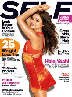 Lucy Hale covers the October issue of SELF Magazine! In the issue she talks facing fears, finding real happiness and why she can't stop singing!