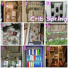 20 ways to upcycle your baby's crib. Including the mattress and springs