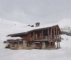 February issue of British House & Garden of Axel Vervoordt's striking home in the Swiss Alps.