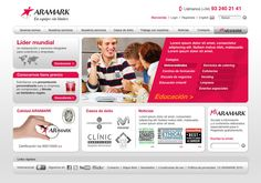 Aramark Website design  Web design project for Aramark, professional services and facilities management company.  Agency: MRM Worldwide