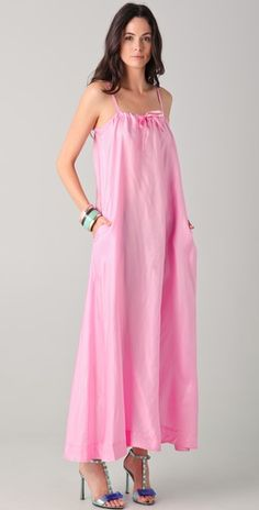 there is something very sweet about this bubble-gum pink dress by Malene Birger