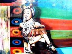 Carmem Miranda - Graffiti in Rebouças Avenue - Sao Paulo - Brazil
