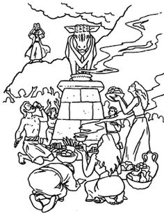 golden calf coloring pages - photo#20