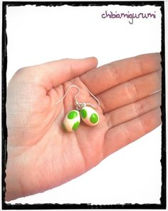 Yoshi eggs earrings charm chibi in polymer clay por Chibiamigurumi, €10.95