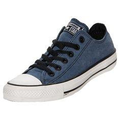 Men's Converse Chuck Taylor Ox Vintage Casual Shoes| FinishLine.com | Denim/Black