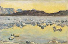 Ferdinand Hodler Maggia Delta before sunrise 1893