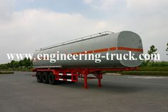45.5m³ químicos líquidos Tanque Semi-reboque para Cyclopentane / Gás / Diesel Web: http://www.engineering-truck.com.br/product/chemical-liquid-tank-semi-trailer-48.html Email: info@engineering-truck.com Tel: 0086-0571-83696958