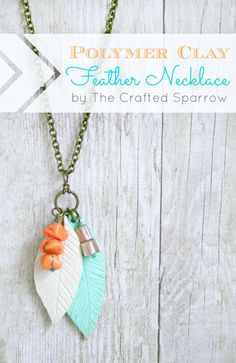 Polymer-Clay-Feather-Necklace
