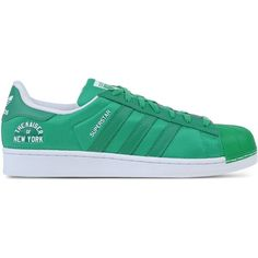 Adidas Originals Low-Tops & Trainers ($60) ❤ liked on Polyvore featuring mens, men's shoes, men's sneakers and green