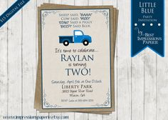 Little Blue  A Customizable Birthday Party by ImpressionsPaperie, $15.00