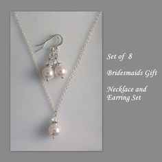 CHOOSE YOUR COLORS 8 Bridesmaid Gift Sets by alexandreasjewels, $112.00