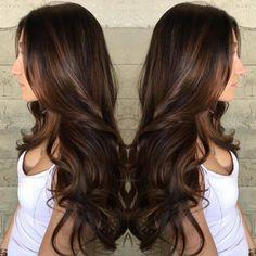 Long Brown Hair With Subtle Balayage