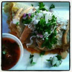 Mexico City-style Quesadilla by Seis Curbside Kitchen and Catering, Tucson, AZ Food Truck...