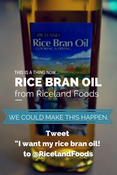 Support the creation of those handy bottles of rice bran oil!  Share a Tweet!