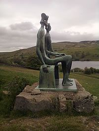 At Glenkiln, Dumfries & Galloway, there are 6 sculptures by Henry Moore, Sir Jacob Epstein and Auguste Rodin imaginatively sighted on this beautiful glen.