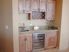 Wet bar - can't wait till ours is done I think we will do a wine rack on the end to finish it off