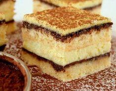 Sernik na biszkopcie z polewą czekoladową