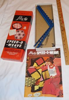 vintage Lily Speed - O - Weave Art 717  box with colorful instructions booklet | eBay