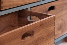 A Kitchen Island With Removable Dovetail Boxes