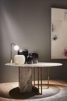 PLINTO table - design ANDREA PARISIO for Meridiani - Salone del mobile 2015