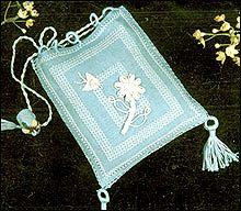 Casalguidi Italian Stumpwork Linen Bag