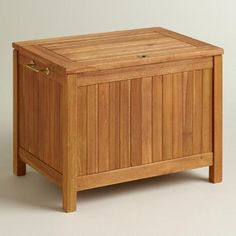 One of my favorite discoveries at WorldMarket.com: Outdoor Wood Cooler